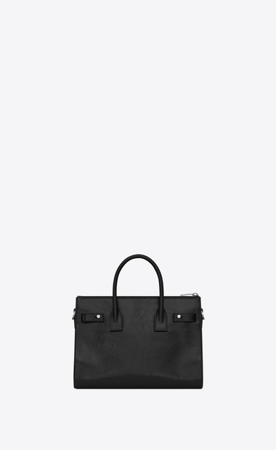 SAINT LAURENT Sac De Jour Supple D Baby SAC DE JOUR SOUPLE duffle bag in black moroder leather b_V4