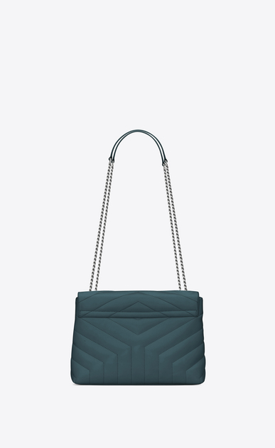 "SAINT LAURENT Monogramme Loulou Woman Small LOULOU chain bag in green ""Y"" matelassé leather b_V4"