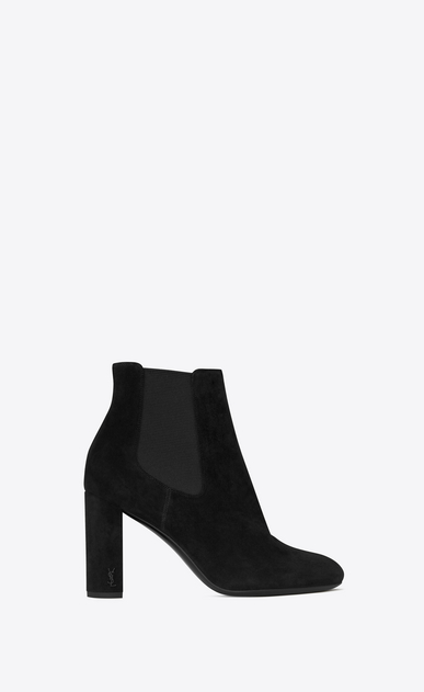 SAINT LAURENT Loulou D LOULOU 95 Chelsea ankle boot in black suede a_V4