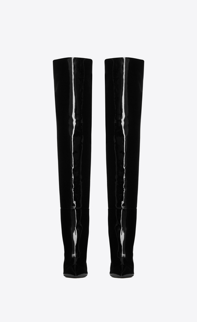 SAINT LAURENT Heel Booties D JODIE 105 boot in black patent leather b_V4