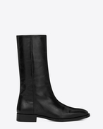 SAINT LAURENT Matt D Bottine MATT 25 en cuir moroder noir f