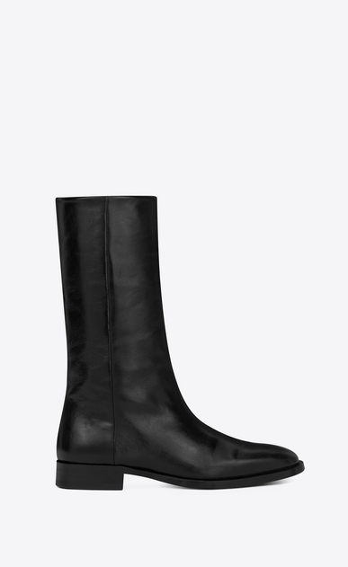 SAINT LAURENT Matt D MATT 25 ankle boot in black moroder leather a_V4