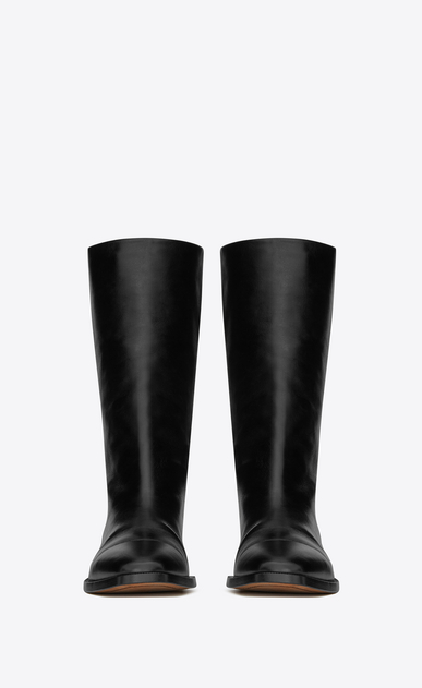 SAINT LAURENT Matt D MATT 25 ankle boot in black moroder leather b_V4