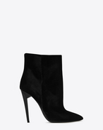 SAINT LAURENT Freja D FREJA 105 ankle boot in black velvet f