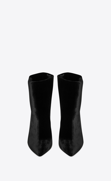 SAINT LAURENT Freja Woman FREJA 105 ankle boot in black velvet b_V4
