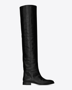 SAINT LAURENT Matt D MATT 25 thigh-high boot in black moroder leather f