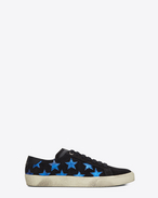 SAINT LAURENT Sneakers D Sneakers COURT CLASSIC SL/06 CALIFORNIA nere e blu in pelle metallizzata f