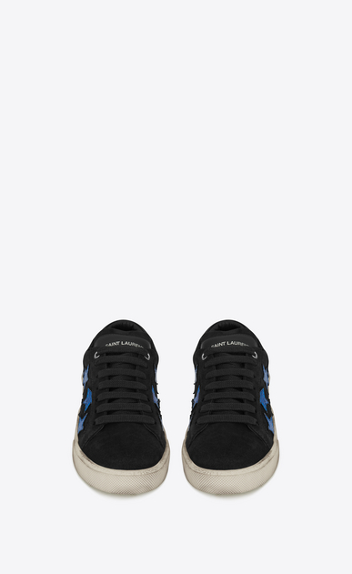 SAINT LAURENT Sneakers D COURT CLASSIC SL/06 CALIFORNIA sneaker in black and blue metallic leather b_V4