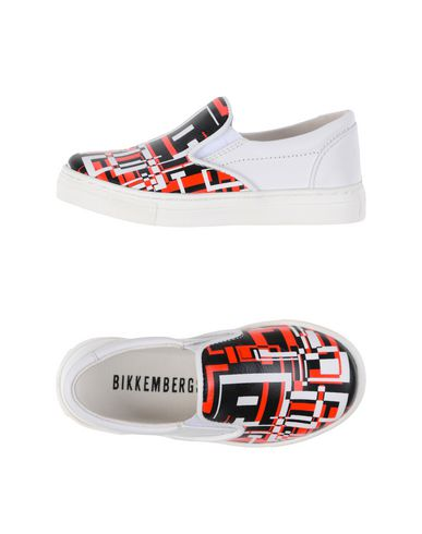 BIKKEMBERGS Jungen Low Sneakers & Tennisschuhe Weiß Größe 29 Leder