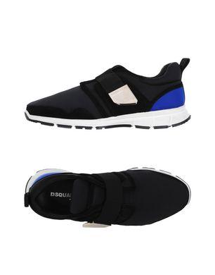 Haidemühl Angebote DSQUARED2 Herren Low Sneakers & Tennisschuhe Farbe Schwarz Größe 3