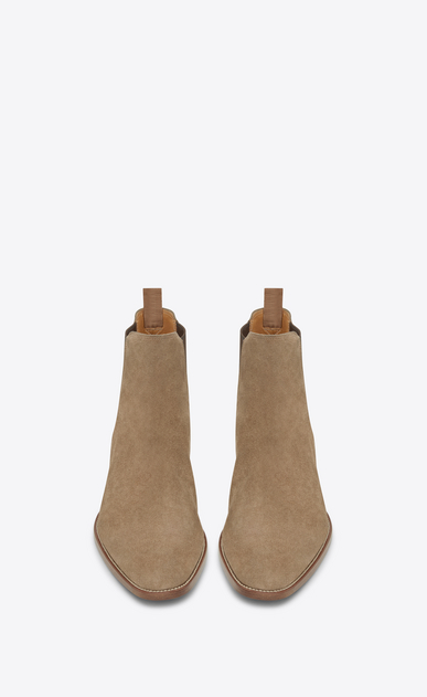 SAINT LAURENT Boots Man classic wyatt 30 chelsea boot in light tobacco suede b_V4