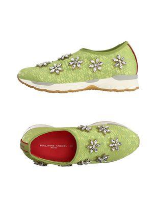 PHILIPPE MODEL Damen Low Sneakers & Tennisschuhe Farbe Hellgrün Größe 9 Sale Angebote Haidemühl