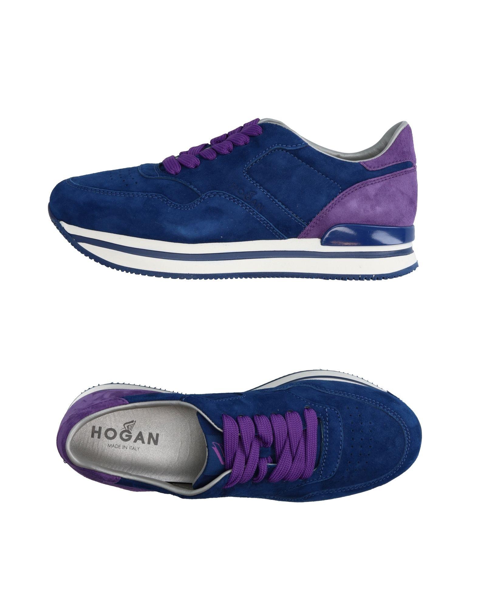 HOGAN Damen Low Sneakers & Tennisschuhe Farbe Blau Größe 6