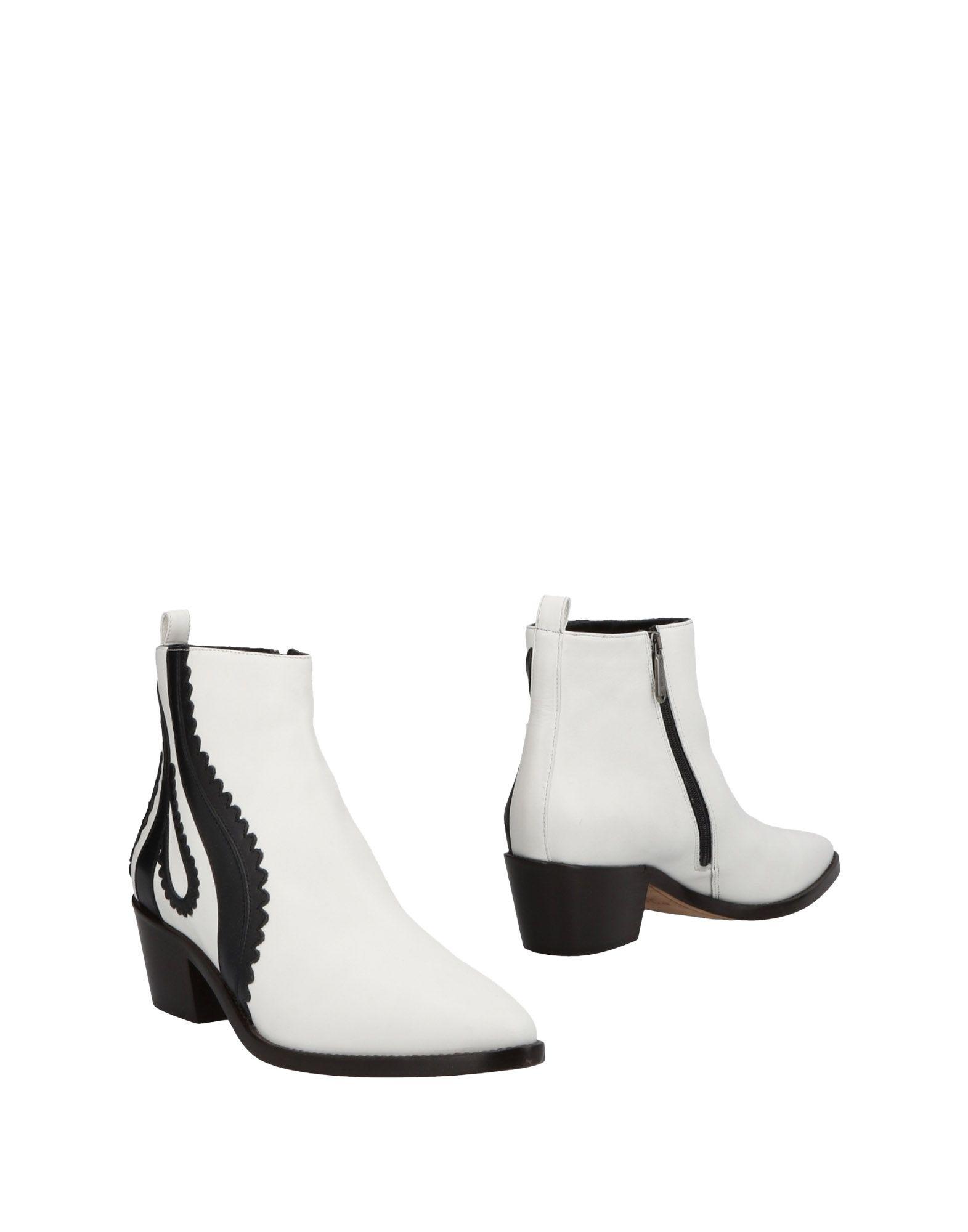 《送料無料》PINKO レディース ショートブーツ ホワイト 35 牛革(カーフ)