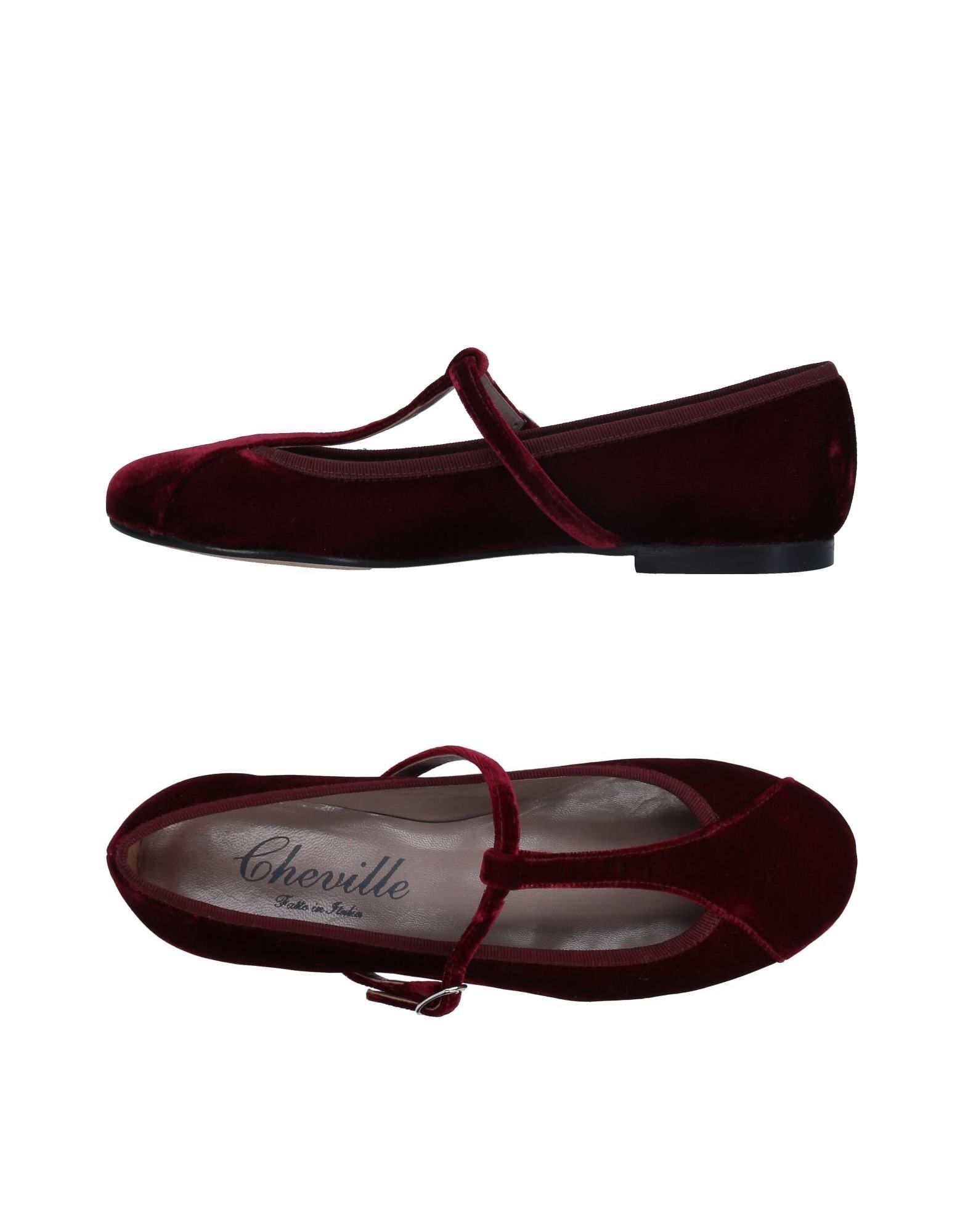CHEVILLE Ballet Flats in Maroon