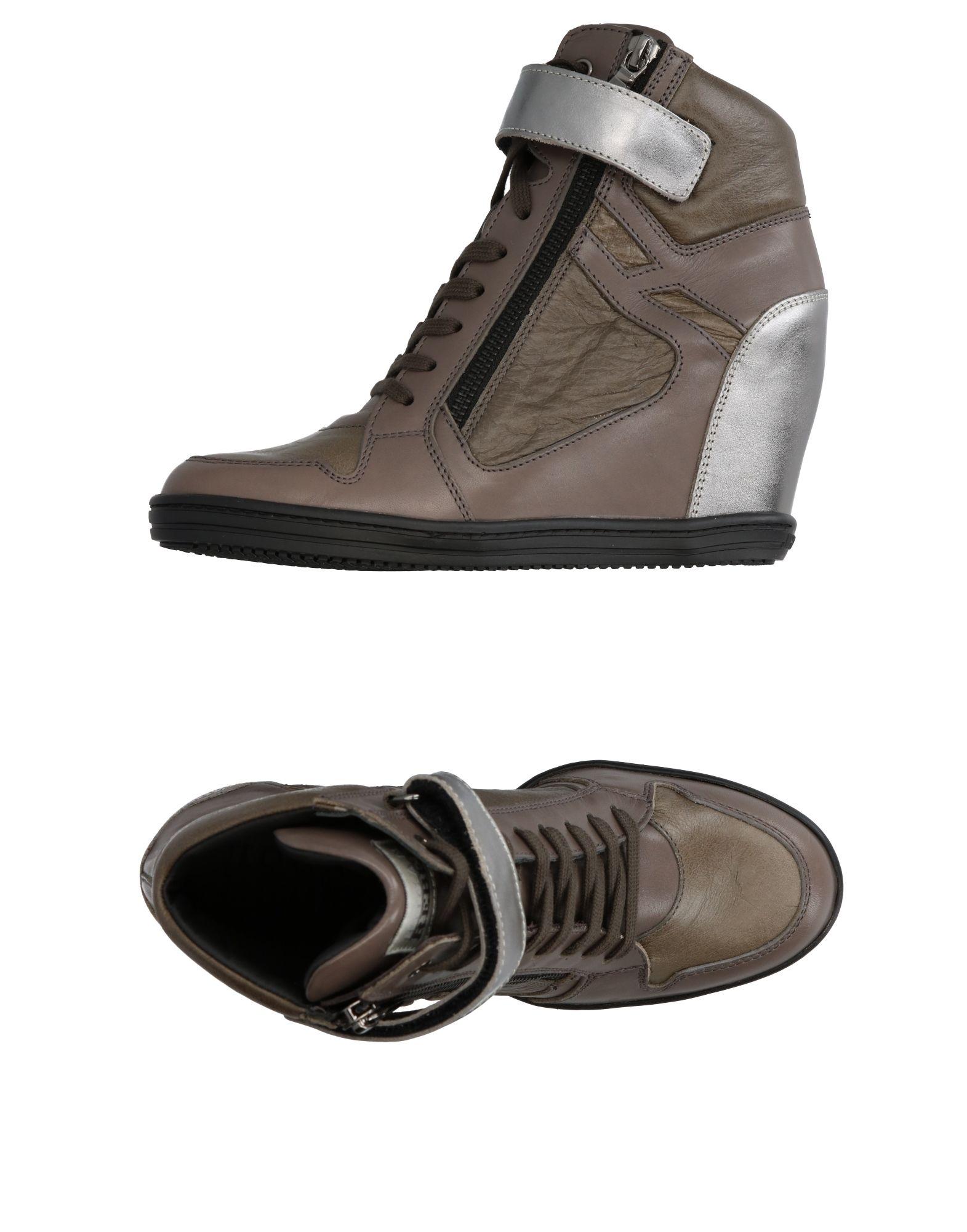 Фото HOGAN REBEL Высокие кеды и кроссовки. Купить с доставкой