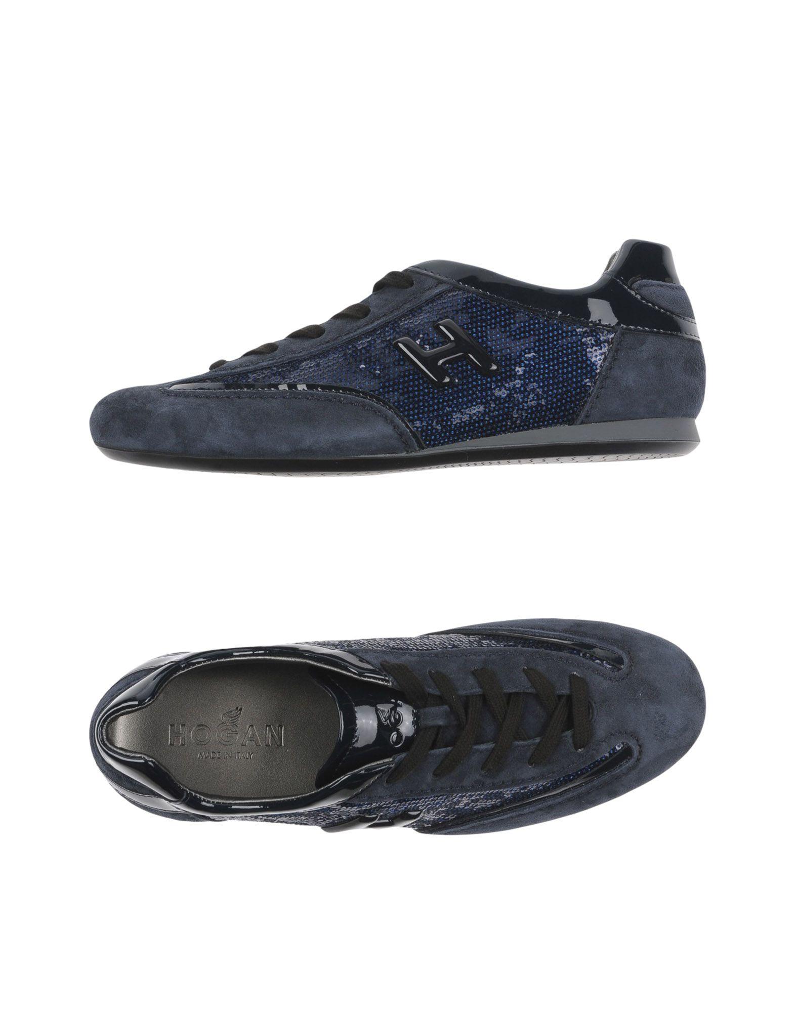 HOGAN Damen Low Sneakers & Tennisschuhe Farbe Blau Größe 2