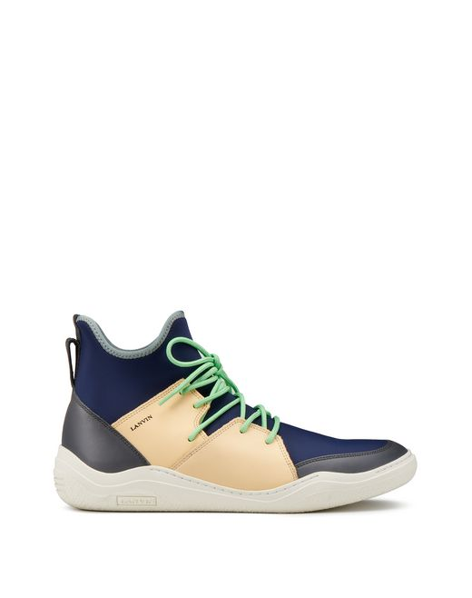 lanvin high-top diving sneaker men