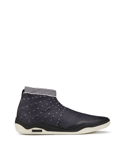 lanvin mid-top diving sneaker men