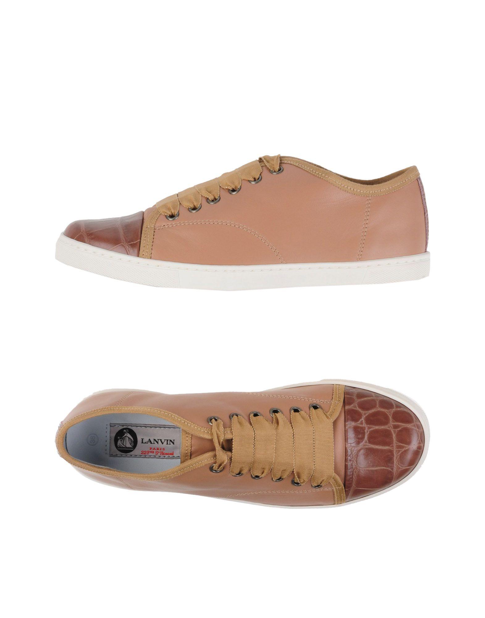 LANVIN Damen Low Sneakers & Tennisschuhe Farbe Nude Größe 9