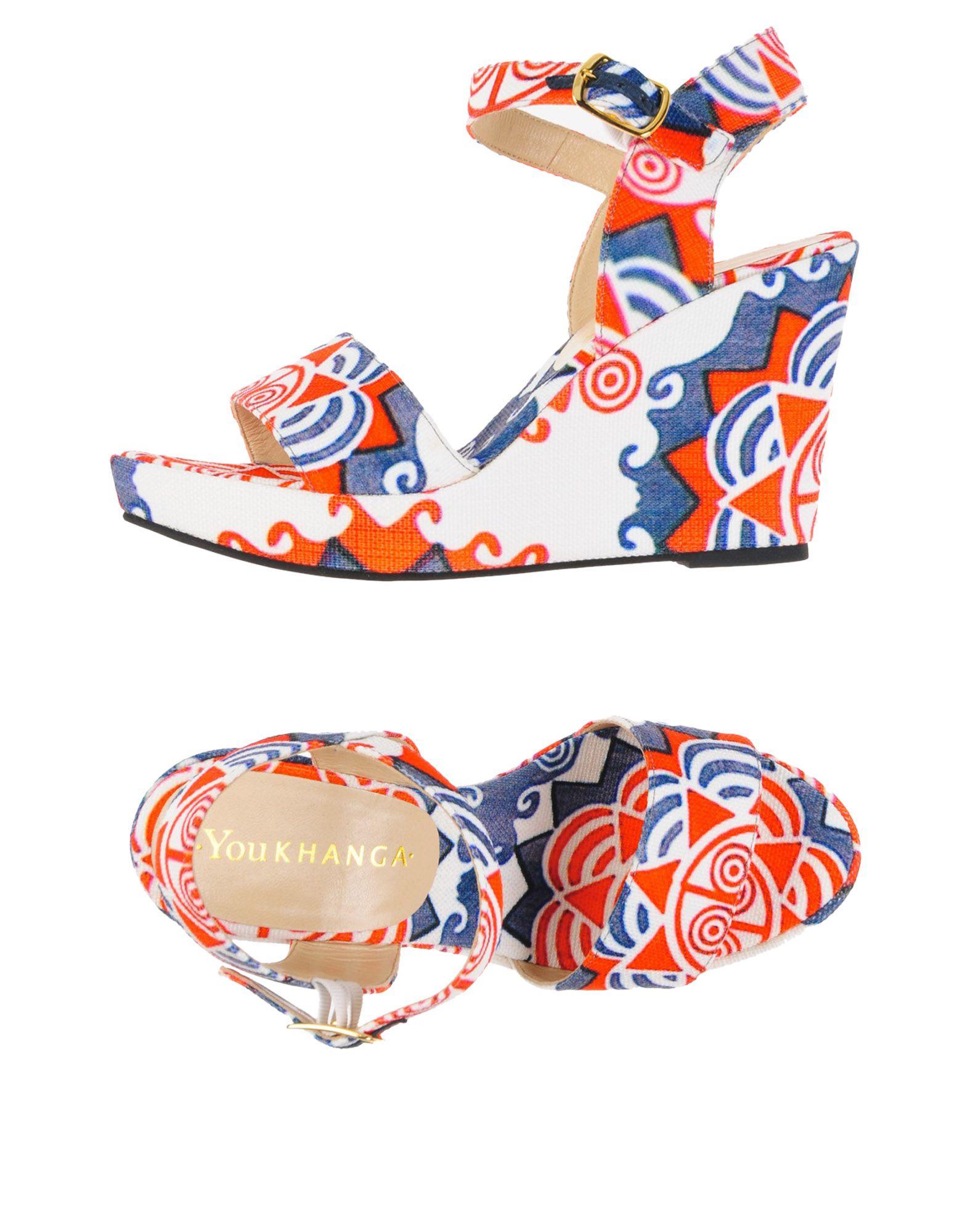 《期間限定セール中》YOU KHANGA レディース サンダル オレンジ 36 紡績繊維