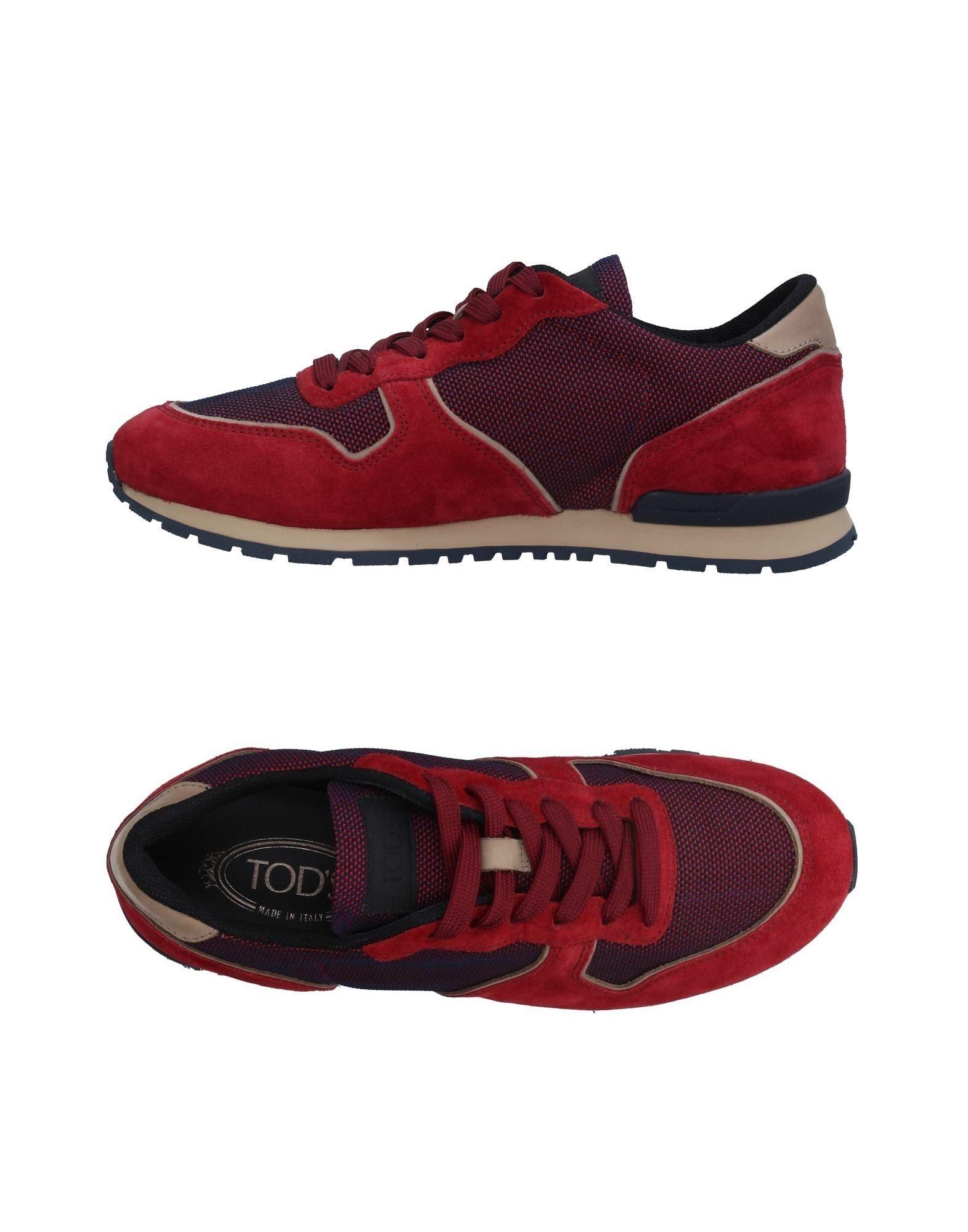 TOD´S Herren Low Sneakers & Tennisschuhe Farbe Rot Größe 11