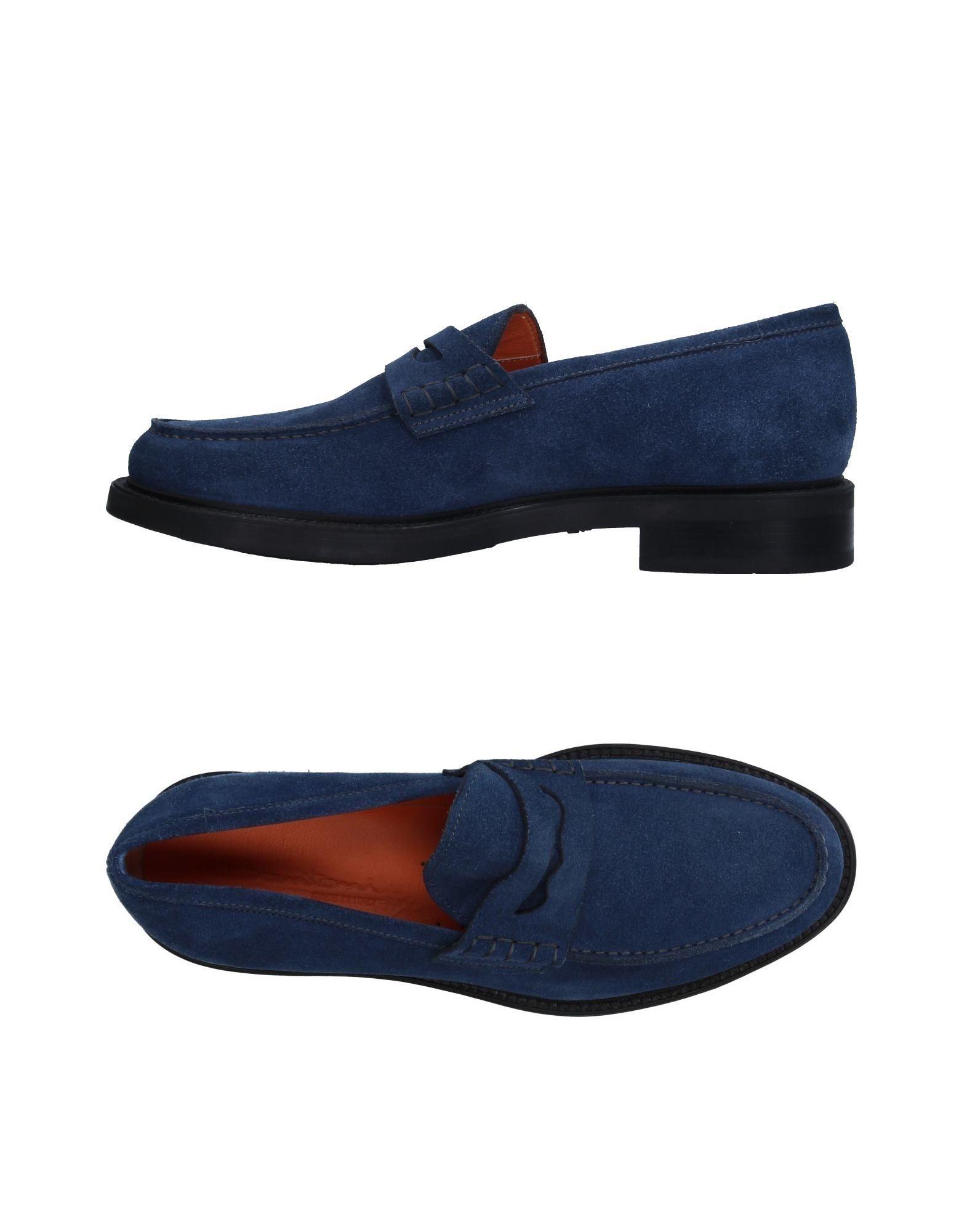 SANTONI Herren Mokassin Farbe Blau Größe 8