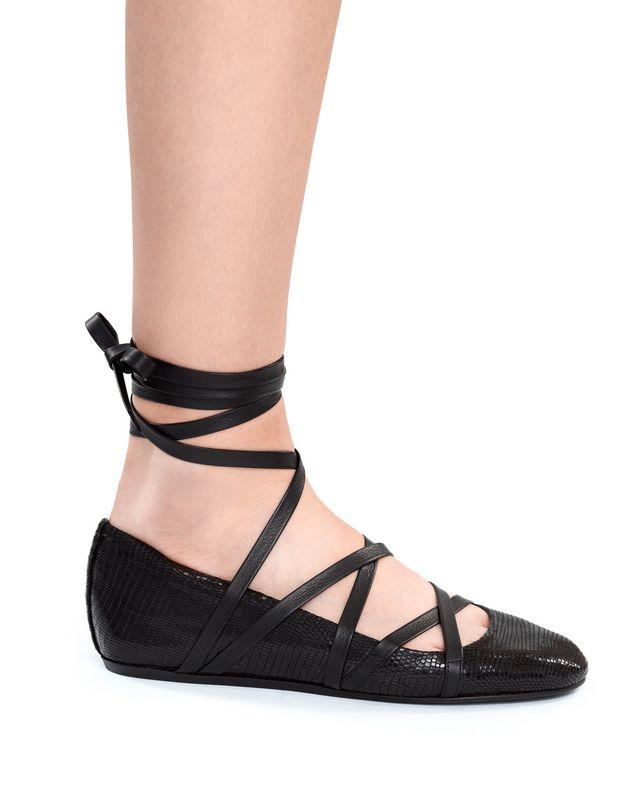 LANVIN 系带芭蕾平底鞋 芭蕾鞋 D e