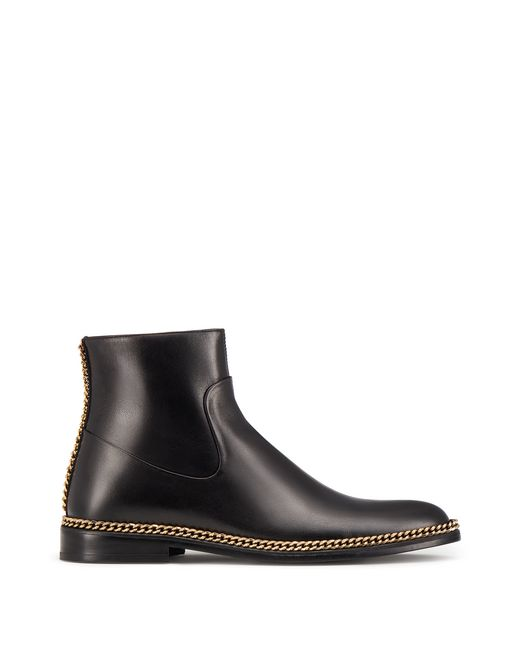 lanvin chain ankle boot women