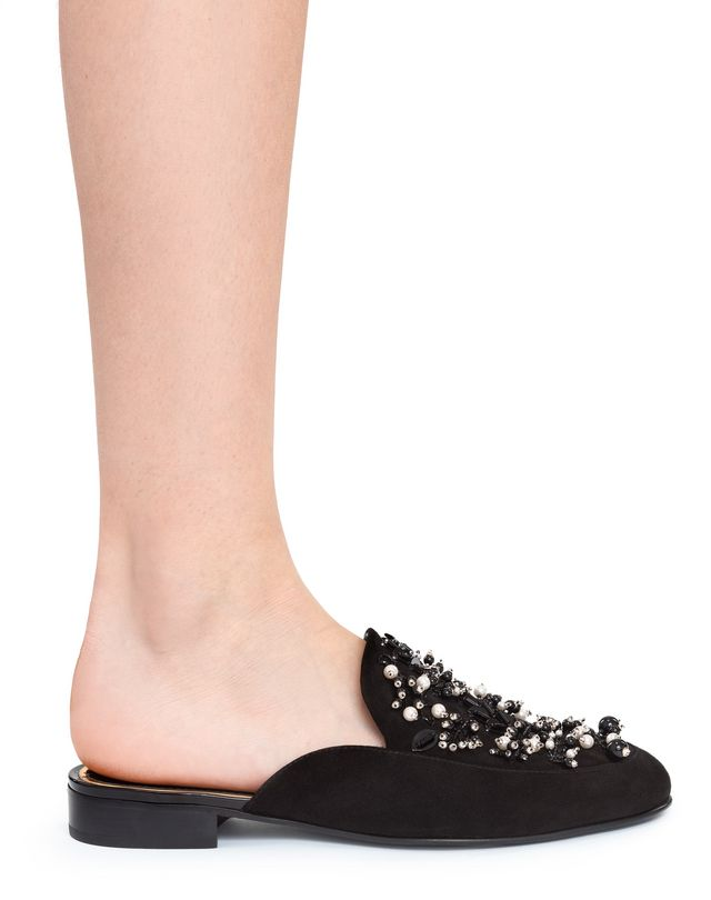 LANVIN EMBROIDERED MULE Loafers D e