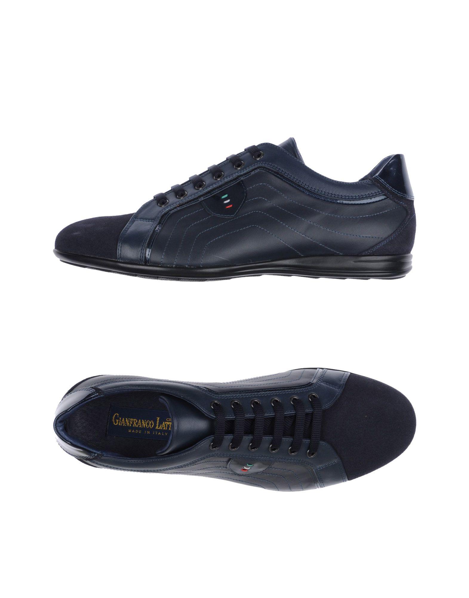 GIANFRANCO LATTANZI Herren Low Sneakers & Tennisschuhe Farbe Dunkelblau Größe 9