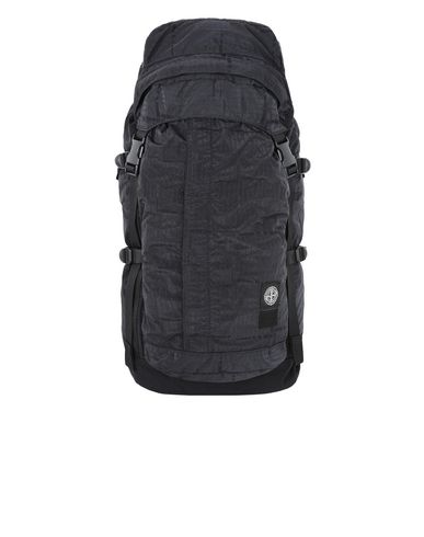STONE ISLAND Backpack 914P1 STONE ISLAND/PORTER®<br>STONE ISLAND HOUSE CHECK JACQUARD ON NYLON METAL BLACK WATRO_GARMENT DYED