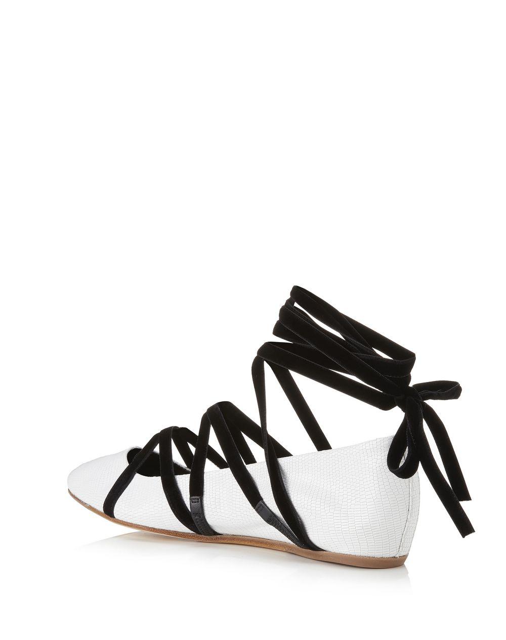 系带芭蕾平底鞋 - Lanvin