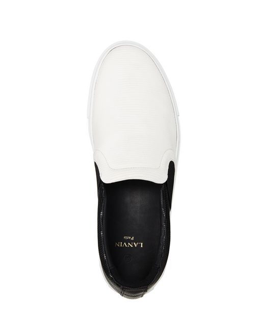 lanvin two-toned slip-on sneaker women
