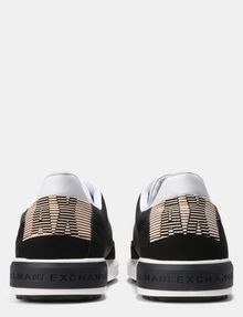 ARMANI EXCHANGE FAUX-SUEDE RUBBER LOGO SNEAKERS Sneakers Man d