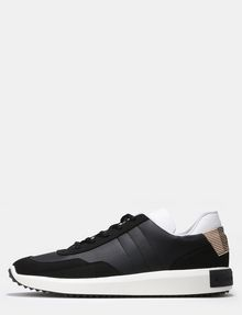 ARMANI EXCHANGE FAUX-SUEDE RUBBER LOGO SNEAKERS Sneakers Man f