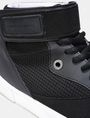 ARMANI EXCHANGE MESH AND FAUX SUEDE HIGH-TOP SNEAKERS Sneakers Man a