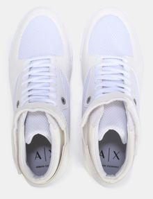 ARMANI EXCHANGE MESH AND FAUX SUEDE HIGH-TOP SNEAKERS Sneakers Man e