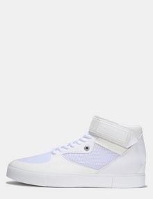 ARMANI EXCHANGE MESH AND FAUX SUEDE HIGH-TOP SNEAKERS Sneakers Man f