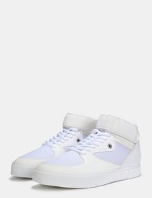 ARMANI EXCHANGE MESH AND FAUX SUEDE HIGH-TOP SNEAKERS Sneakers Man r