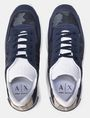 ARMANI EXCHANGE FAUX-SUEDE RUBBER LOGO SNEAKERS Sneakers Man e