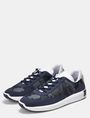 ARMANI EXCHANGE FAUX-SUEDE RUBBER LOGO SNEAKERS Sneakers Man r