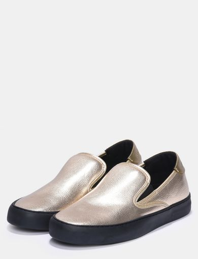 METALLIC SLIP-ON SNEAKERS