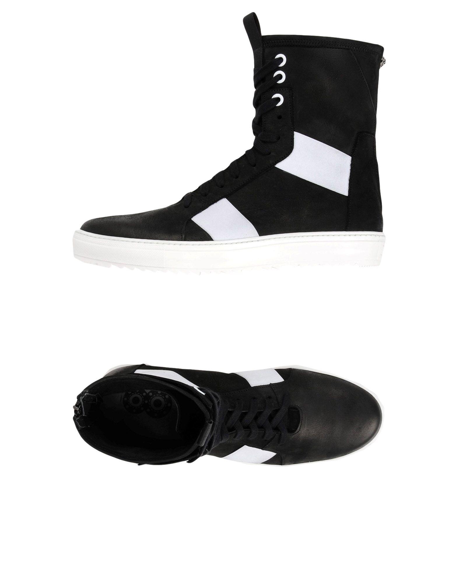 8 Herren High Sneakers & Tennisschuhe Farbe Schwarz Größe 9