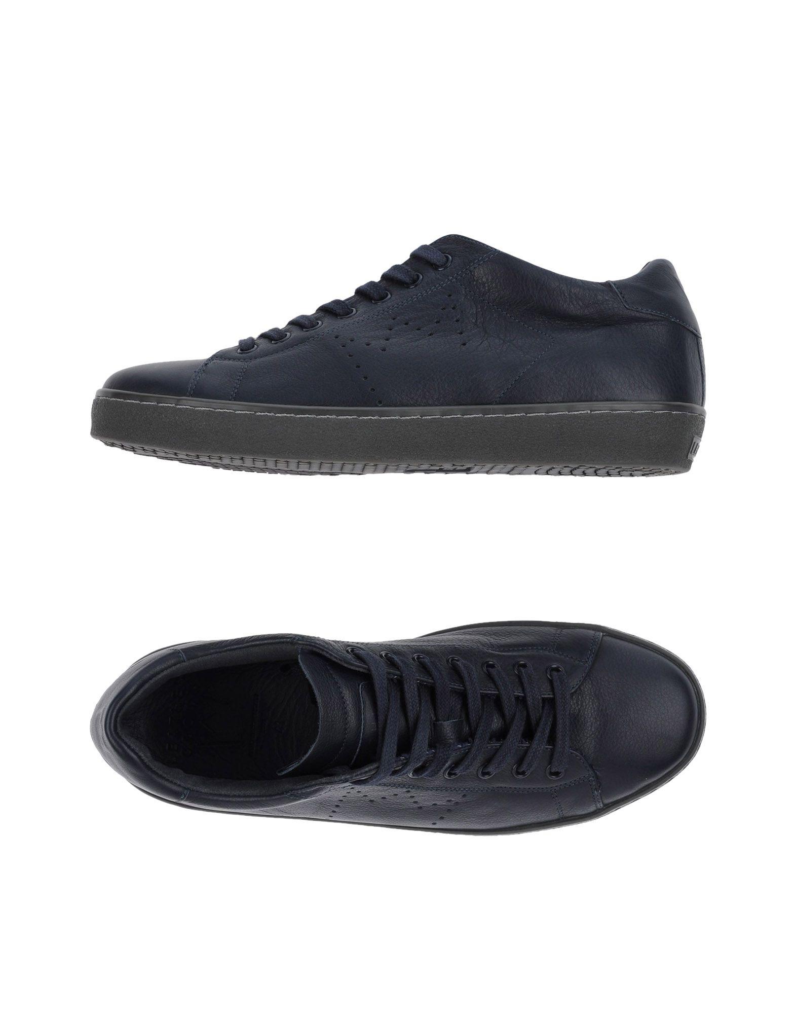LEATHER CROWN Herren Low Sneakers & Tennisschuhe Farbe Dunkelblau Größe 7