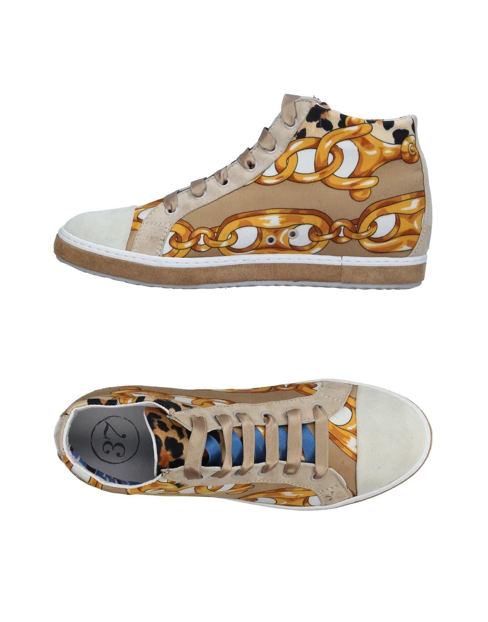 SOISIRE SOIEBLEU Damen High Sneakers & Tennisschuhe Farbe Beige Größe 7