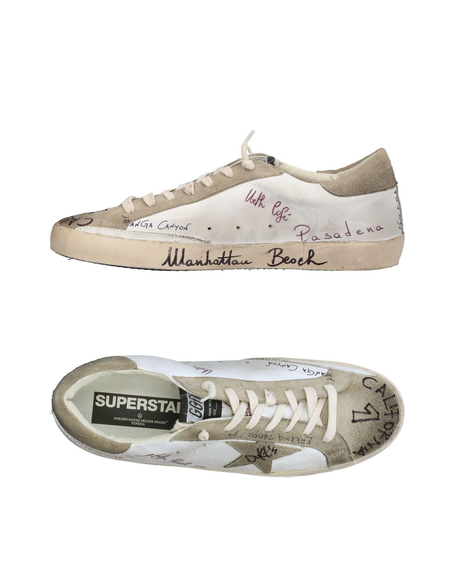 GOLDEN GOOSE DELUXE BRAND Herren Low Sneakers & Tennisschuhe Farbe Weiß Größe 13