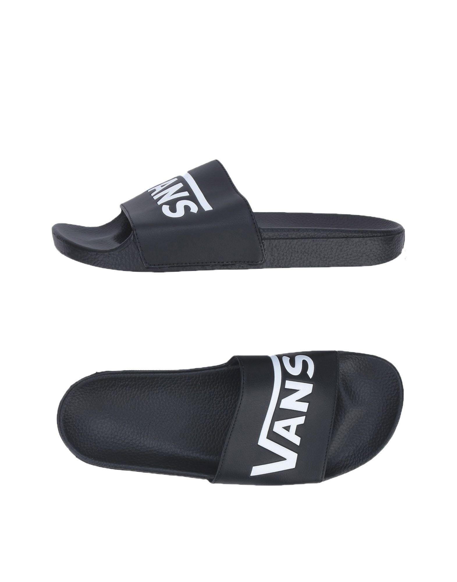 《送料無料》VANS メンズ サンダル ブラック 9 ゴム 100% MN SLIDE-ON