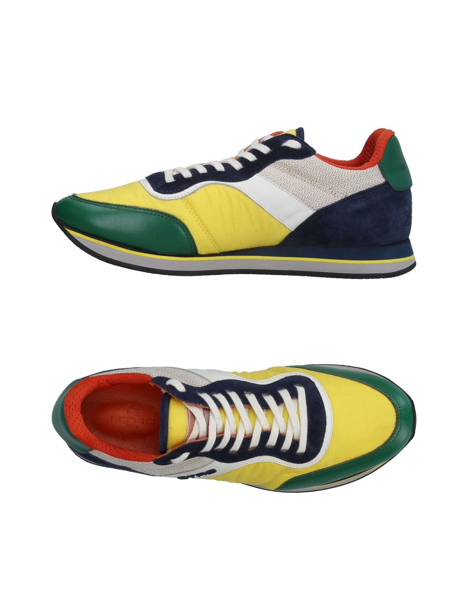 ETRO Herren Low Sneakers & Tennisschuhe Farbe Gelb Größe 9