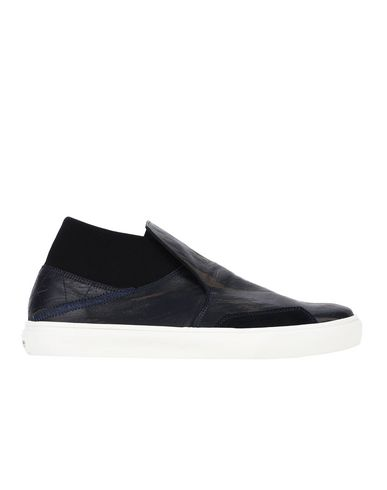 S0124 SLIP-ON LOW (LASER ENGRAVED LEATHER/SUEDE)